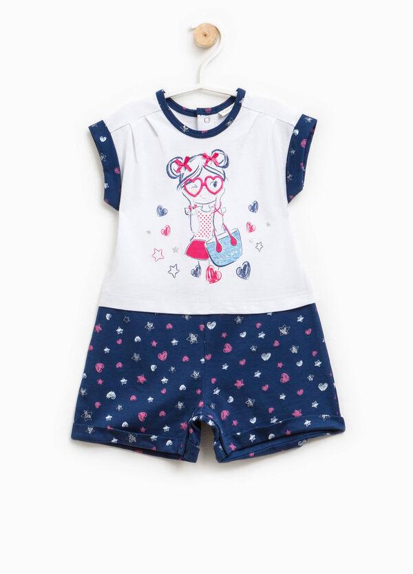 Pelele de pijama con corazones y estampado | OVS