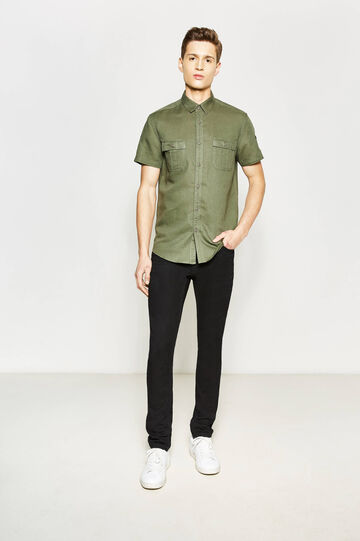 Camicia casual slim fit con taschini