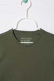 Solid colour 100% cotton T-shirt, Green, hi-res