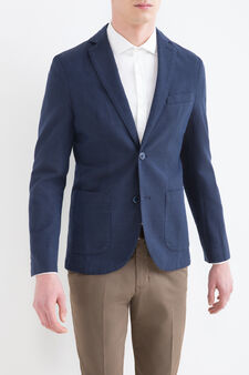 Giacca misto cotone Rumford, Blu, hi-res