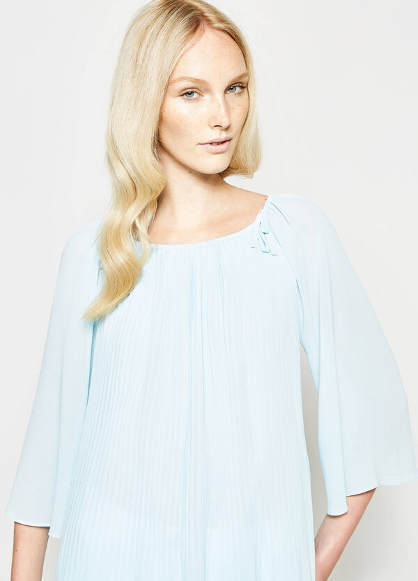 Pleated blouse with laces | OVS
