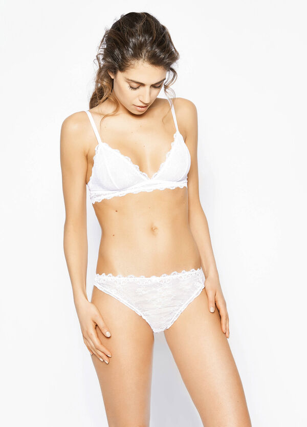 Soft lace triangle bra   OVS