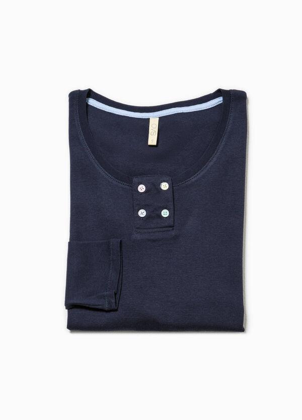 Camiseta de pijama de algodón en color liso | OVS