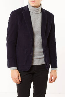 Corduroy jacket, Dark Blue, hi-res
