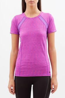 T-shirt sportiva stretch, Viola chiaro, hi-res