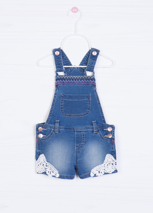 Short denim dungarees with inserts | OVS