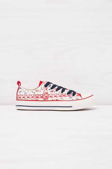 Low-top printed sneakers, Multicolour, hi-res