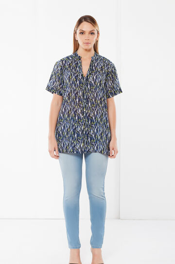 Short sleeve Curvy blouse, Multicolour, hi-res