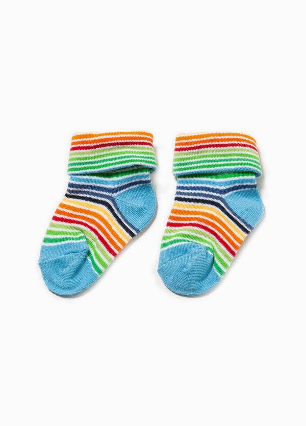 Stretch striped short socks | OVS