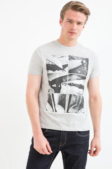 T-shirt cotone viscosa girocollo G&H, Grigio melange, hi-res