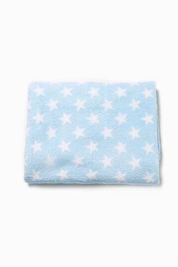 Star patterned blanket, White/Light Blue, hi-res