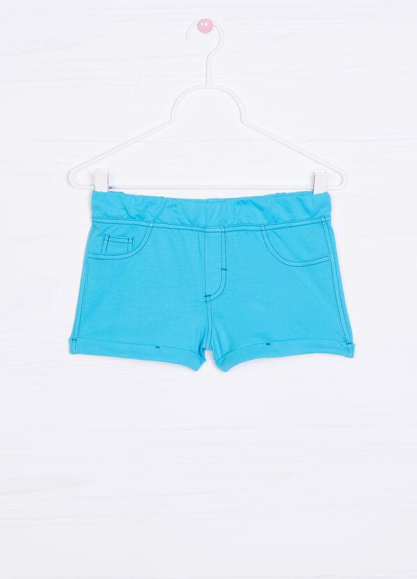 Solid colour 100% cotton shorts | OVS