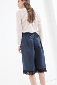 100% cotton culottes, Blue, hi-res