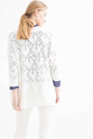 Knitted openwork cardigan