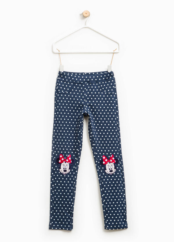 Stretch jeggings with Minnie Mouse patches | OVS
