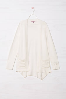 Viscose blend cardigan, White, hi-res