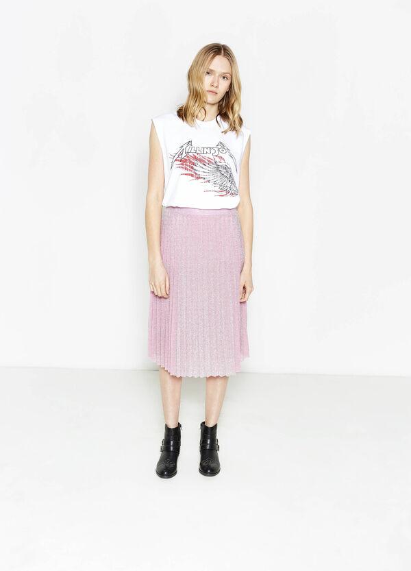 T-shirt in misto cotone con stampa   OVS