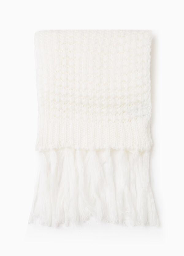 Sciarpa tricot tinta unita con frange | OVS