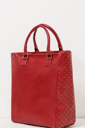 Handbag with studs, Red, hi-res