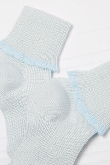 Two-pair pack cotton blend socks, Light Blue, hi-res