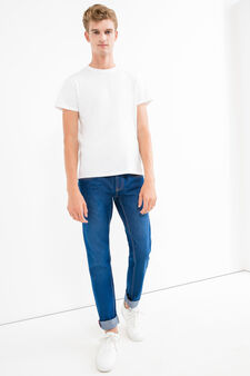 Slim-fit jeans with turned-up ankles, Denim, hi-res
