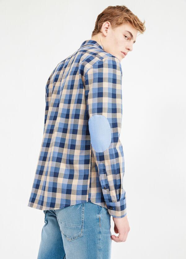 Camicia casual puro cotone con toppe | OVS