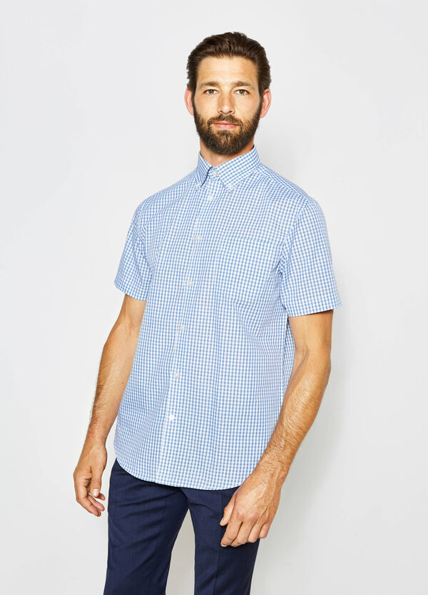 Regular-fit formal check shirt | OVS