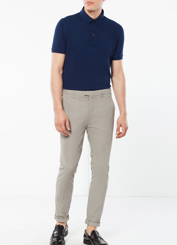 Rumford trousers with embossed weave   OVS