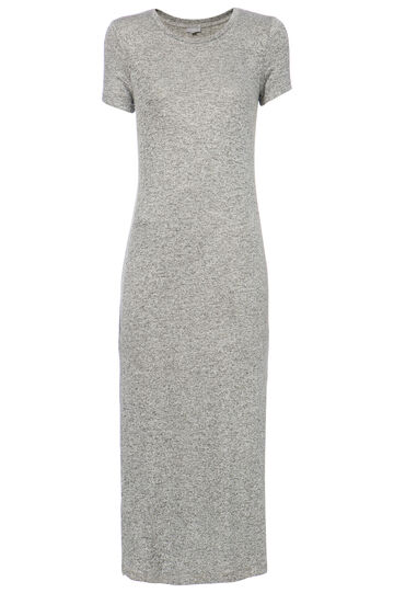 Smart Basic long dress in viscose blend, Grey, hi-res