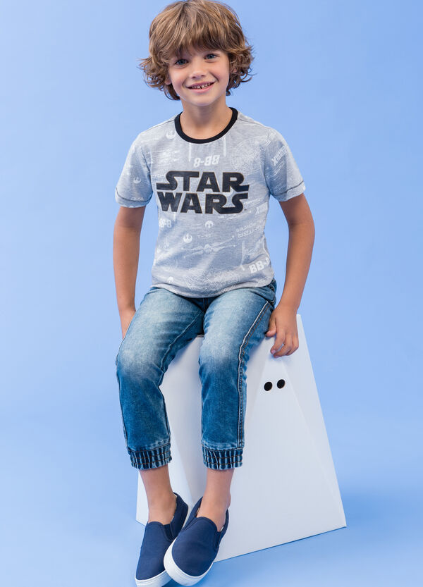 T-shirt with Star Wars print with glitter | OVS