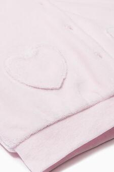 Cotton blend hooded jacket, Pink, hi-res