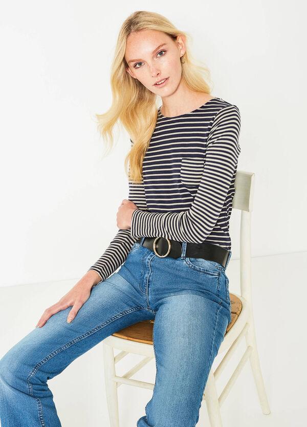 Camiseta de rayas en algodón 100% | OVS