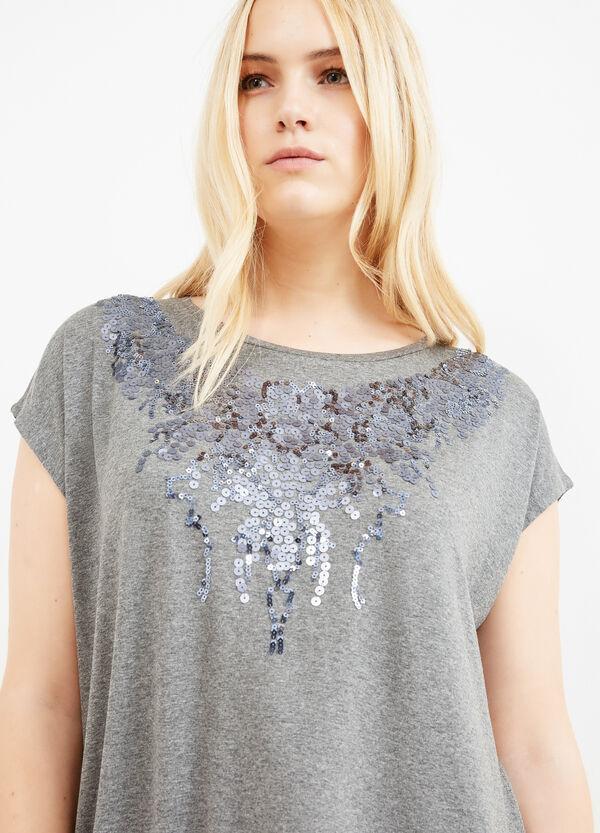 Camiseta Curvy con lentejuelas | OVS