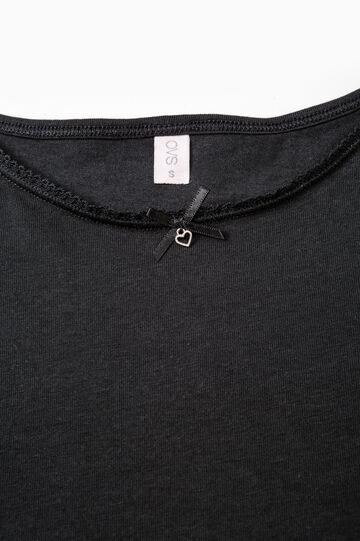 Solid colour stretch under top, Black, hi-res