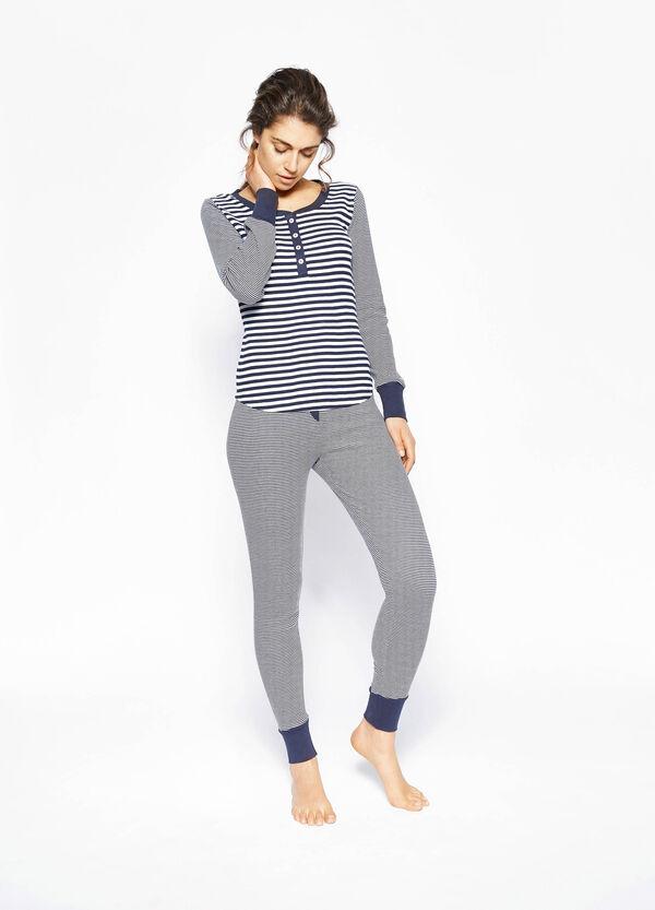 Pijama de rayas en algodón 100% | OVS