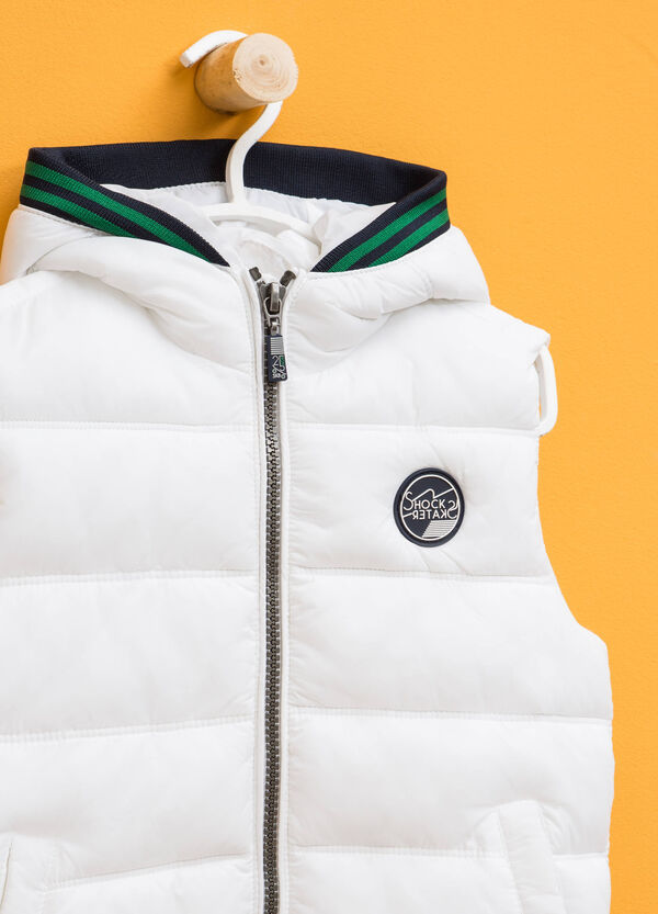 Padded gilet with striped ribbing | OVS