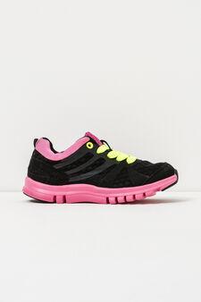 Sneakers with openwork design., Black, hi-res