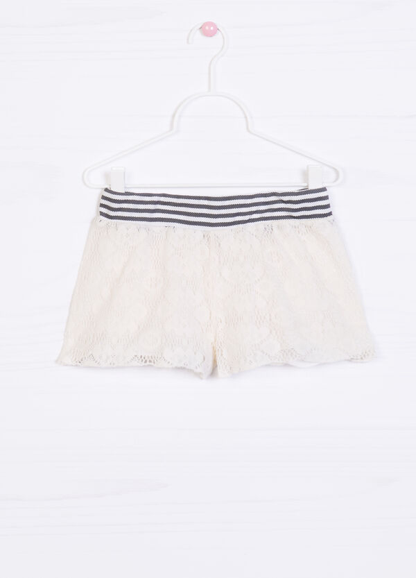 Striped pattern shorts in 100% cotton | OVS