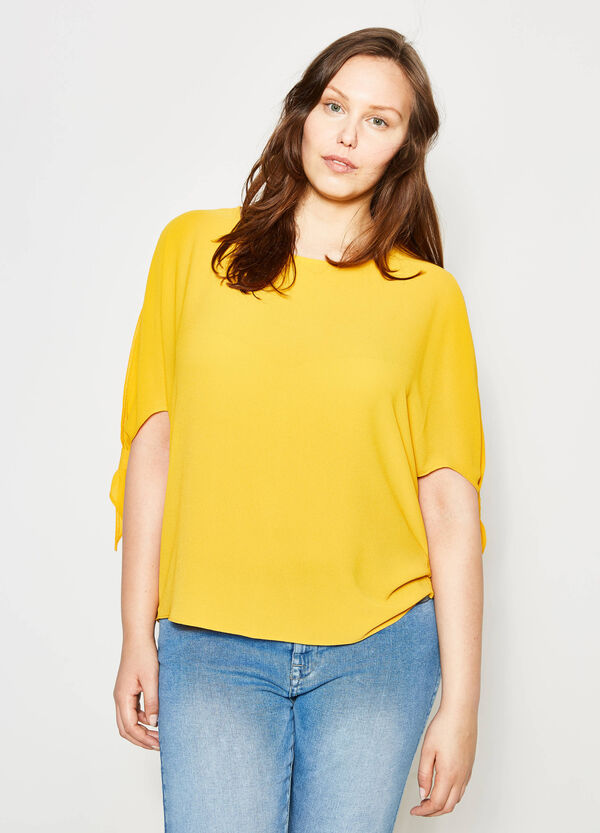 Curvy blouse in stretch crêpe | OVS