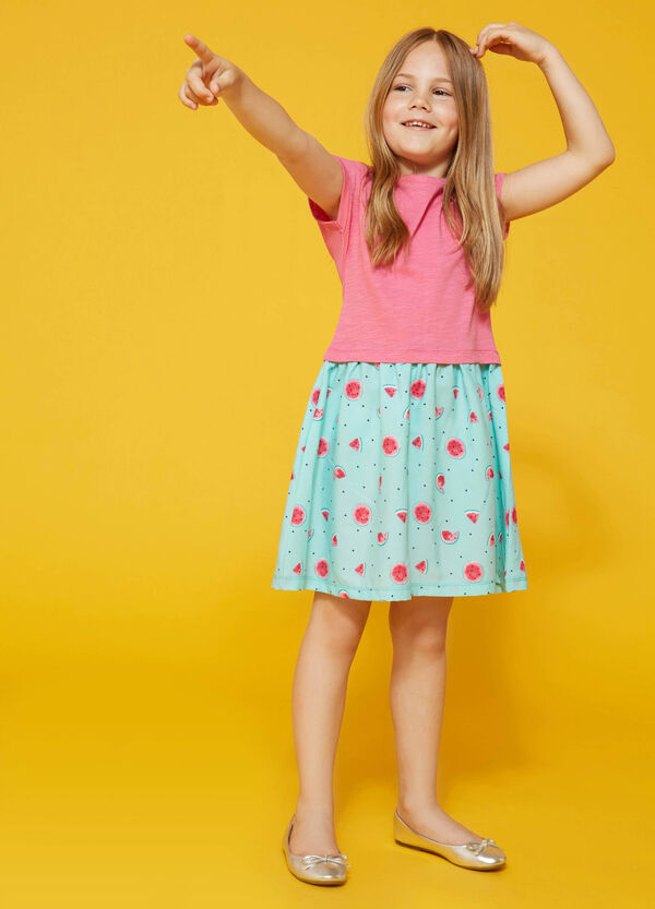 Fruit patterned dress with sequins | OVS