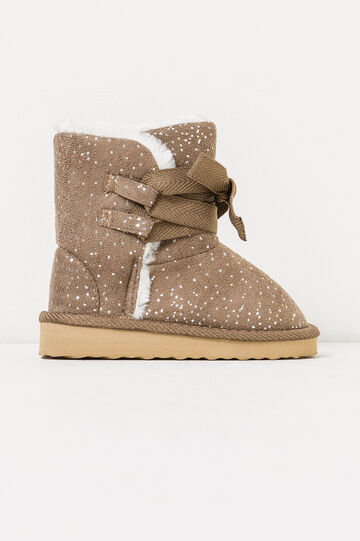 Ankle boots with faux fur lining, Beige, hi-res