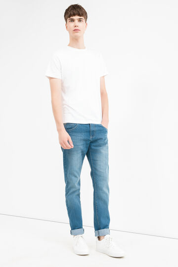 Skinny-fit jeans with turned-up ankles, Light Wash, hi-res
