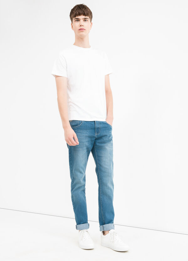 Skinny-fit jeans with turned-up ankles | OVS