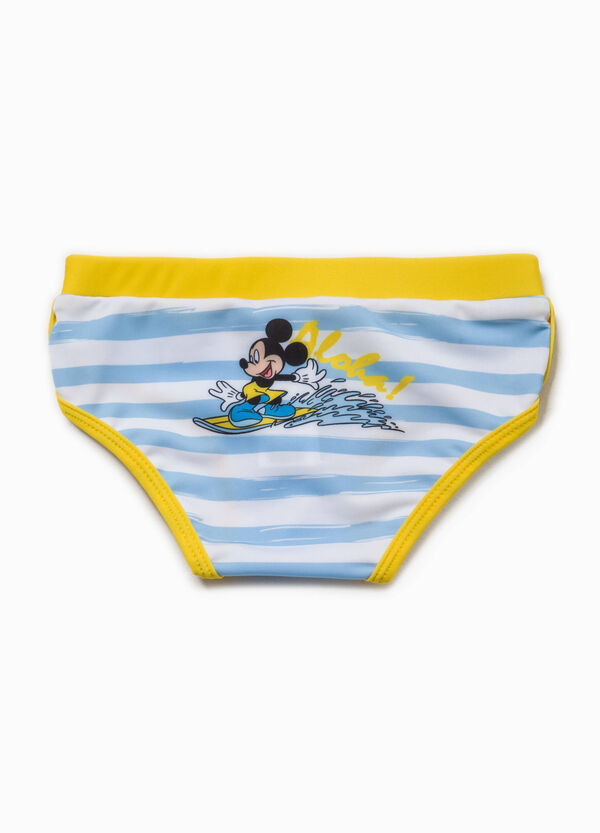 Striped swim briefs with Mickey Mouse print | OVS