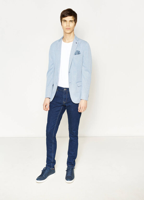Two-button jacket with floral pocket handkerchief | OVS