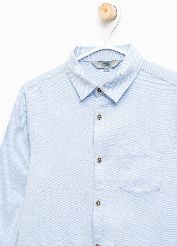 100% cotton shirt with pocket | OVS