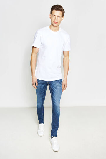 Jeans slim fit stretch effetto used, Denim, hi-res