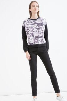 Minions cotton blend sweatshirt, Black, hi-res