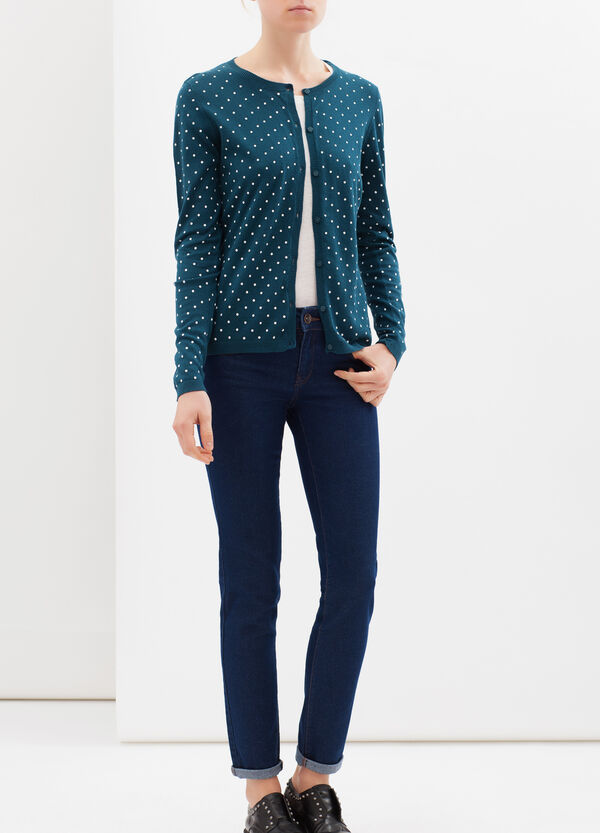 100% cotton printed cardigan | OVS