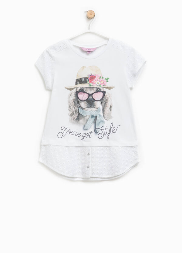 Printed T-shirt with faux layering | OVS
